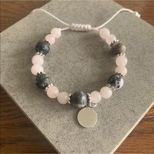 Rose Quartz Handmade Friendship Gemstone Bracelet